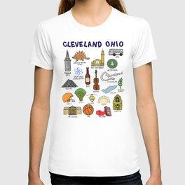 Cleveland Ohio Icons T-shirt