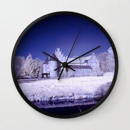Castle of Herten in infrared Wall Clock