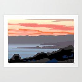 CA coastal scenic #4 Art Print