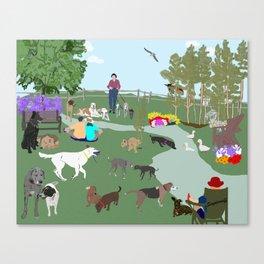 The Dog Park Canvas Print