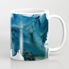 Change: A minimal abstract acrylic painting in blue and green by Alyssa Hamilton Art Coffee Mug