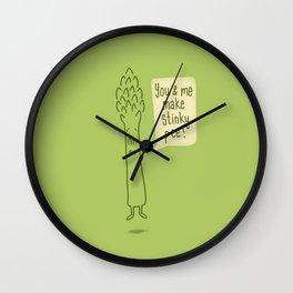 Happy Asparagus  Wall Clock