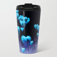 blue hearts Travel Mug