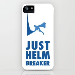 JUST HELM BREAKER BLUE iPhone Case