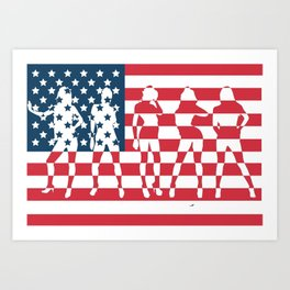 America the Beautiful  Art Print