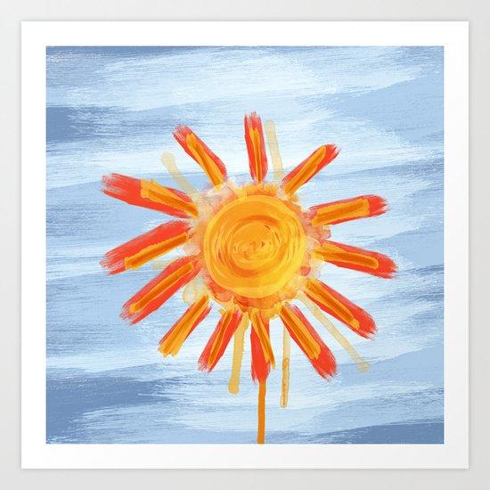 Sunshine Painting Art Print