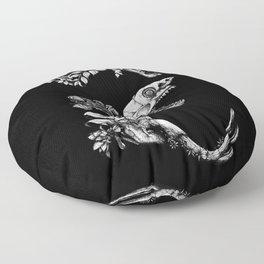 Prehistoric Bloom (Black version) Floor Pillow