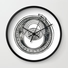 Space-Time Atom Wall Clock