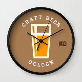Craft Beer O'Clock Wall Clock