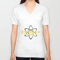 bazinga V-neck T-shirts featuring BAZINGA Big Bang by junaputra