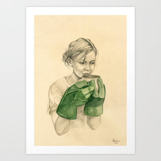 bun-fight Art Print