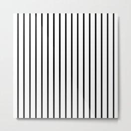 Vertical Black Stripes Pattern Metal Print