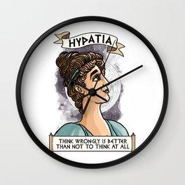 Hypatia of Alexandria Wall Clock