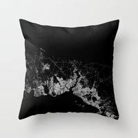 istanbul Throw Pillows featuring Istanbul  by Line Line Lines