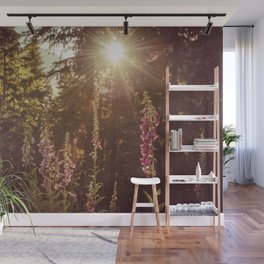 A New Day Wildflowers at Dawn - Nature Photography Wall Mural