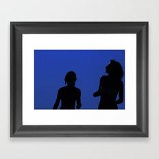 Two Girls In the Sun Framed Art Print