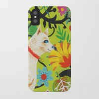 calendars iPhone & iPod Cases featuring Spring Jindo Dog by Janna Morton