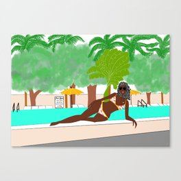 pool rules Canvas Print