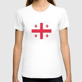 Flag of georgia-Georgia,Sakartvelo, Causasus,georgeian,საქართველო ,Tbilisi,causasus,Georgian,ქართული T-shirt