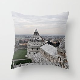 View From The Leaning Tower Throw Pillow