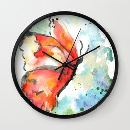Fall Monarch Wall Clock