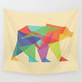 Fractal Geometric bear Wall Tapestry