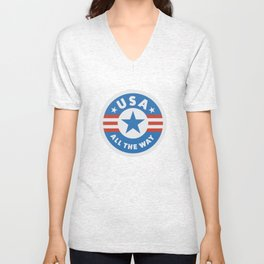 USA ALL THE WAY Unisex V-Neck
