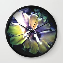 Sun Rays On The Hibiscus Flower Wall Clock