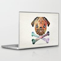 pug Laptop & iPad Skins featuring pug by Manoou
