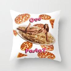 Que Pasta? Throw Pillow