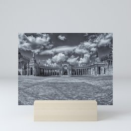 Sanssouci Palace - Potsdam, Germany Black and White Photographic Mini Art Print