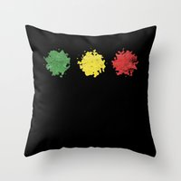 rasta Throw Pillows featuring rasta by kidz18s