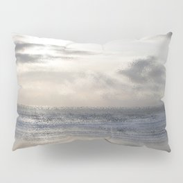 Silver Scene ~ Ocean Ripple Effect Pillow Sham