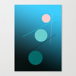 The 3 dots, power game 10 Canvas Print