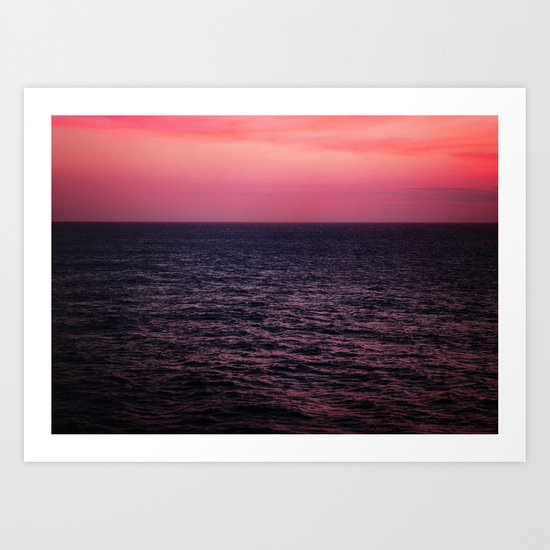 Pretty Pink Sunset Art Print