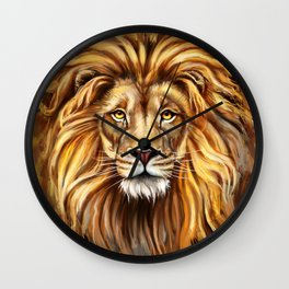 Artistic Lion Face Wall Clock