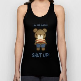 Artie the Grumpy Bear Unisex Tank Top