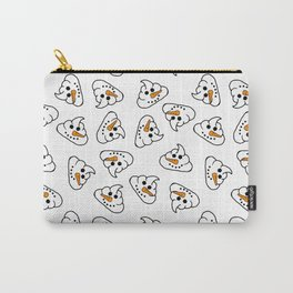 snowman poo emoji ugly Christmas sweater design Carry-All Pouch