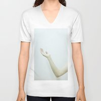 milk V-neck T-shirts featuring milk by Nilay Eren