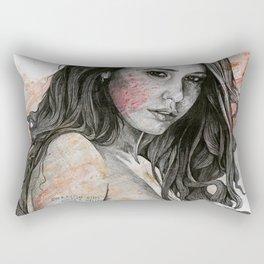 You Lied (nude girl with mandala tattoos) Rectangular Pillow