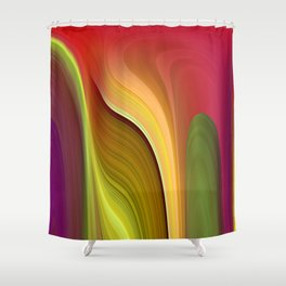 Tall And Short Colorful Abstract Shower Curtain