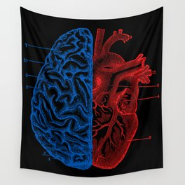 Heart and Brain Wall Tapestry