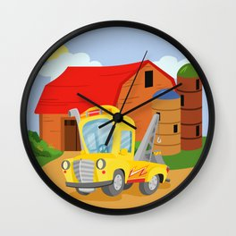 TOW TRUCK (GROUND VEHICLES) Wall Clock