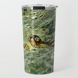"""The Mermaid in the Sea"" by Edmund Dulac Travel Mug"