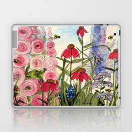 Cottage Garden Flower Whimsical Acrylic Painting Laptop & iPad Skin