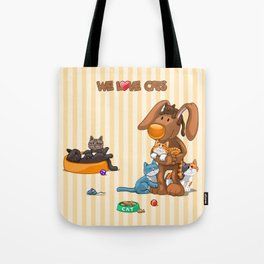 Rabbit catlover Tote Bag