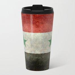 National flag of Syria - vintage Travel Mug