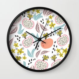 Fruits and seeds pattern! Wall Clock