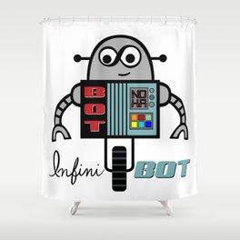 InfiniBOT Shower Curtain