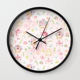 Little Ballerina Dance Wall Clock